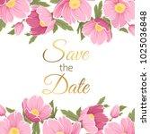 spring floral garland foliage... | Shutterstock .eps vector #1025036848