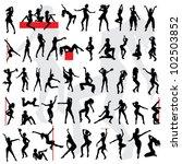 50 sexy girls silhouette. go go ... | Shutterstock .eps vector #102503852