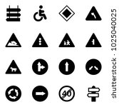 solid vector icon set   sign... | Shutterstock .eps vector #1025040025
