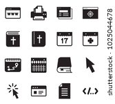 solid black vector icon set  ... | Shutterstock .eps vector #1025044678