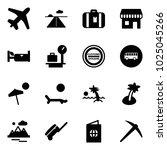 solid vector icon set   plane... | Shutterstock .eps vector #1025045266