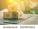online shopping   ecommerce and ... | Shutterstock . vector #1025051812