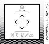 move symbol icon | Shutterstock .eps vector #1025052712