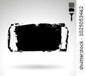 black brush stroke and texture. ... | Shutterstock .eps vector #1025053462