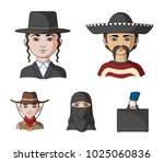 a mexican  a jew  a woman from... | Shutterstock .eps vector #1025060836