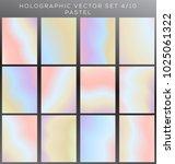 hologram background vector set. | Shutterstock .eps vector #1025061322