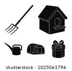 poultry house  pitchfork ...   Shutterstock .eps vector #1025061796