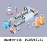 automated production line.... | Shutterstock . vector #1025065282