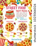 fastfood or street food burgers ... | Shutterstock .eps vector #1025066026