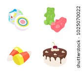confectionery color vector icons | Shutterstock .eps vector #1025070022
