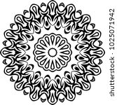 tribal tattoo circular vector... | Shutterstock .eps vector #1025071942