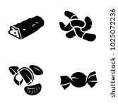 confectionery vector icons | Shutterstock .eps vector #1025072236