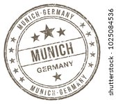 munich germany rubber stamp | Shutterstock .eps vector #1025084536