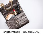 luxury woman fashion... | Shutterstock . vector #1025089642