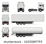 truck vector mock up. isolated... | Shutterstock .eps vector #1025089795