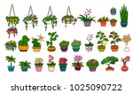 set of plants isolated on white   Shutterstock . vector #1025090722
