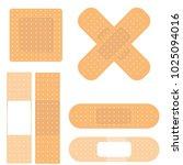 medical plaster set | Shutterstock .eps vector #1025094016