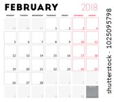 calendar planner for february... | Shutterstock .eps vector #1025095798