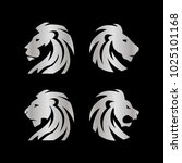 collection of lion head logo... | Shutterstock .eps vector #1025101168