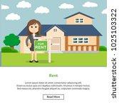 rent job information | Shutterstock .eps vector #1025103322