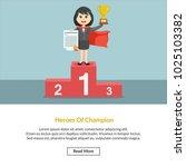 heroes of champion job... | Shutterstock .eps vector #1025103382