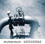 industrial zone  steel...   Shutterstock . vector #1025103562
