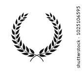 vector laurel wreath isolated... | Shutterstock .eps vector #1025106595