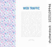 web traffic concept with thin... | Shutterstock .eps vector #1025109946