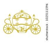 coach for cinderella. template... | Shutterstock .eps vector #1025111596