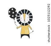 hand drawn nursery birthday... | Shutterstock .eps vector #1025112292