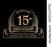 15th anniversary design... | Shutterstock .eps vector #1025113792