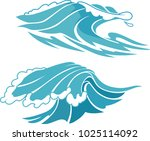 simple water surf | Shutterstock .eps vector #1025114092