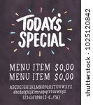 today's special menu.... | Shutterstock .eps vector #1025120842