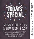 today's special menu.... | Shutterstock .eps vector #1025120842