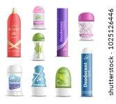 deodorants spray sticks and... | Shutterstock .eps vector #1025126446