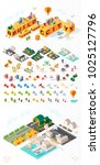 build your own city . set of... | Shutterstock .eps vector #1025127796