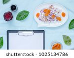 creative flat  with copy space. ... | Shutterstock . vector #1025134786