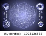 abstract technology ui... | Shutterstock .eps vector #1025136586