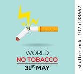 broken tobacco or cigarette... | Shutterstock .eps vector #1025138662