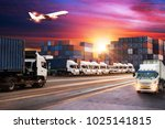 logistics and transportation of ...   Shutterstock . vector #1025141815