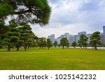 scenery of kokyogaien national... | Shutterstock . vector #1025142232