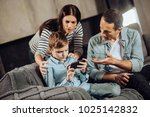 stop playing. loving young... | Shutterstock . vector #1025142832