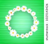 vector round floral frame with... | Shutterstock .eps vector #1025143426
