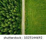 aerial top view of a country... | Shutterstock . vector #1025144692