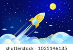 concept of crypto currency.... | Shutterstock .eps vector #1025146135