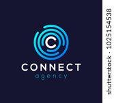 letter c logo icon design... | Shutterstock .eps vector #1025154538