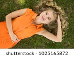 a happy and sexy young stylish... | Shutterstock . vector #1025165872