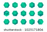 set of colorful green and blue...   Shutterstock .eps vector #1025171806
