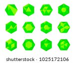 set of colorful green isometric ...   Shutterstock .eps vector #1025172106