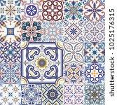 big vector set of tiles... | Shutterstock .eps vector #1025176315